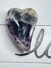 Load image into Gallery viewer, Fluorite heart bowl charging Clarity ZU0
