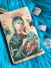 Load image into Gallery viewer, Mini Madonna and child mala pouch SMALL SIZE coin purse ZS6