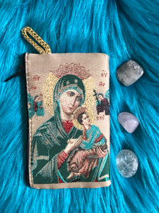 Mini Madonna and child mala pouch SMALL SIZE coin purse ZS6