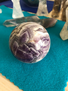66 mm Chevron Amethyst third Eye Chakra Sphere SA7 - The7directions