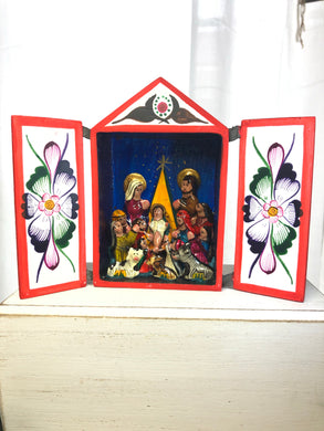 Hand crafted Nativity Scene by Peruvian artist - The7directions