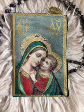 Load image into Gallery viewer, Madonna and child mala pouch coin purse ZM3
