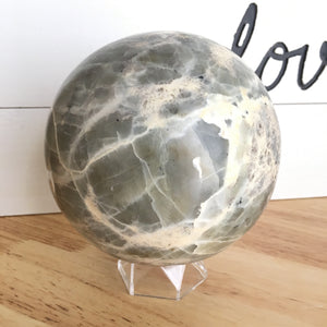 "XL 5""  Garnerite Sphere XK62 - The7directions"