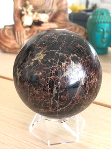XL 85mm Garnet sphere sacral root chakra healing X3S - The7directions