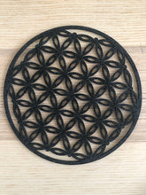 Load image into Gallery viewer, Charcoal color felt flower of life grid root chakra - The7directions