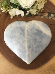 Large Blue Calcite Heart (Calming) SP1 - The7directions