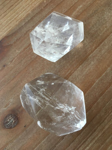 Pair of Clear Quartz Towers Sacred Geometry SD44 - The7directions