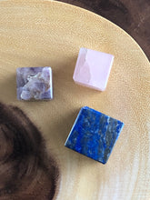 Load image into Gallery viewer, Lapis Lazuli Rose Quartz Amethyst cubes set of 3 XSQ - The7directions
