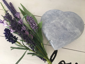 Large Blue Calcite Heart (Calming) SF9 - The7directions