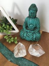 Load image into Gallery viewer, Pair of Clear Quartz Towers Sacred Geometry SD44 - The7directions