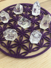 Load image into Gallery viewer, Purple color felt flower of life grid third eye chakra - The7directions