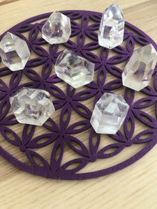 Purple color felt flower of life grid third eye chakra - The7directions