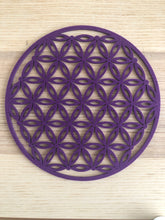 Purple color felt flower of life grid third eye chakra** Free Ship