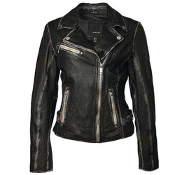 Sofia Leather Jacket - Black