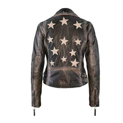 Sofia Allstar Leather Jacket - Vintage Black