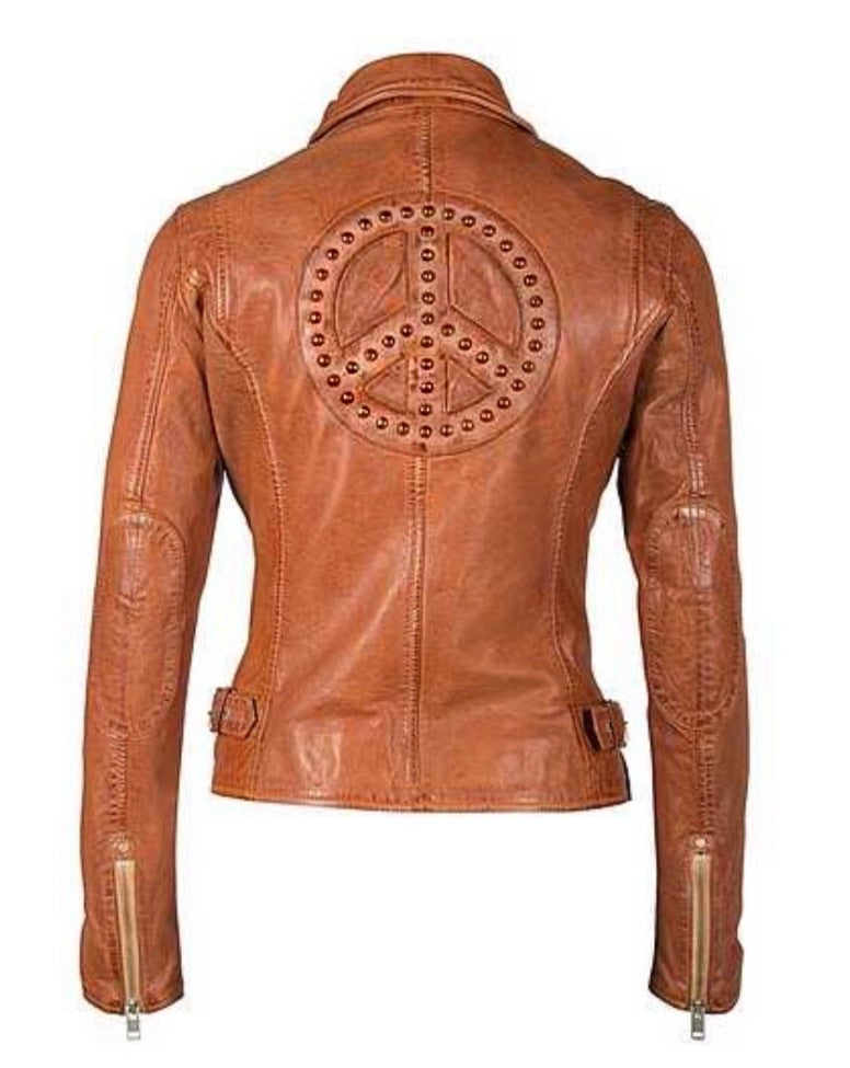Peace Collective Leather Jacket - Cognac