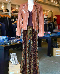 Sofia Leather Jacket - Cognac