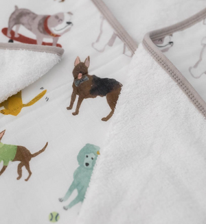 Dog Print - Hooded Towel & Washcloth Set