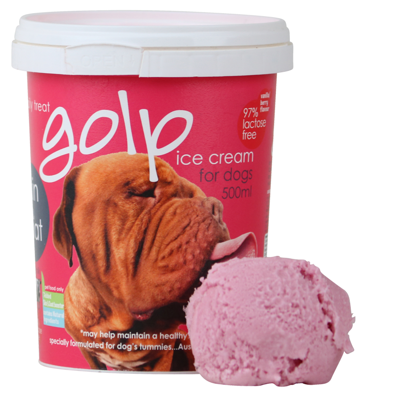 Ice Cream Vanilla Berry Tub 500ml - Protein and Omega goodness