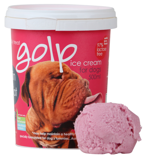 Australian Ice Cream Vanilla Berry Tub 500ml - Protein and Omega goodness