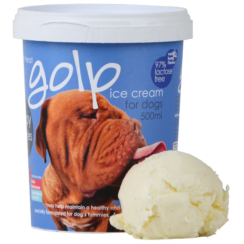 Ice Cream for Dogs - Australian Ice Cream Vanilla Bean Tub 500ml - Protein and Probiotic goodness