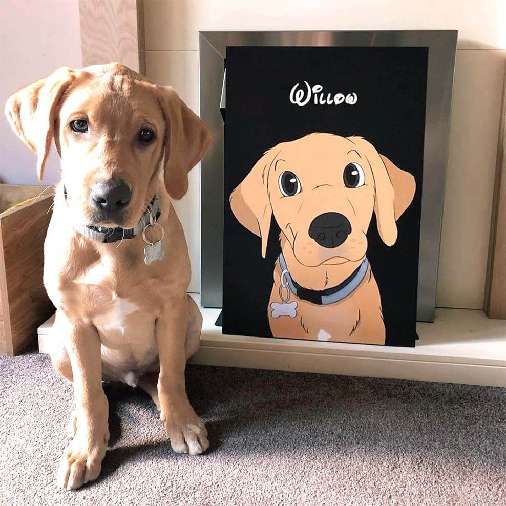best gift for pet lovers dog canvas