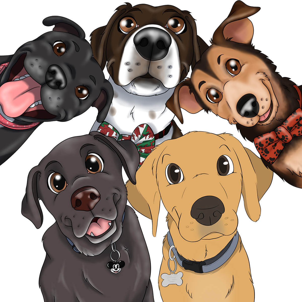 Custom Disney cartoon style pet portraits