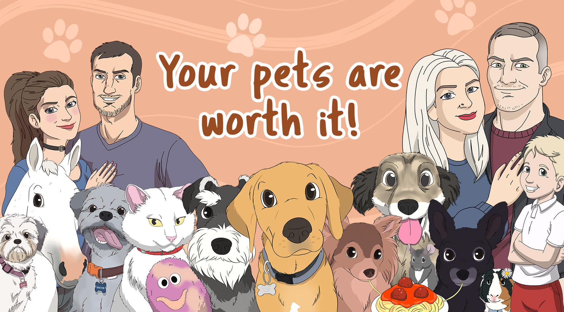 pet creations personalised cartoon pet canvas