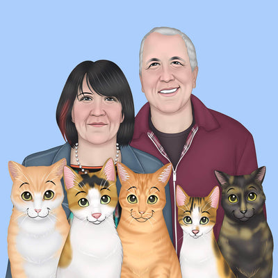 CUSTOM CARTOON FAMILY PORTRAIT - DIGITAL DOWNLOAD