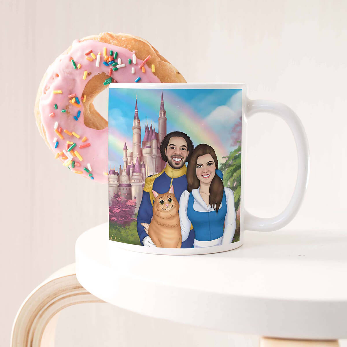 CUSTOM CARTOON STYLE FAMILY COFFEE MUG