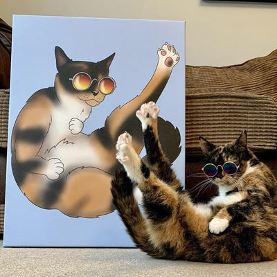 PERSONALISED CARTOON PET CANVAS.