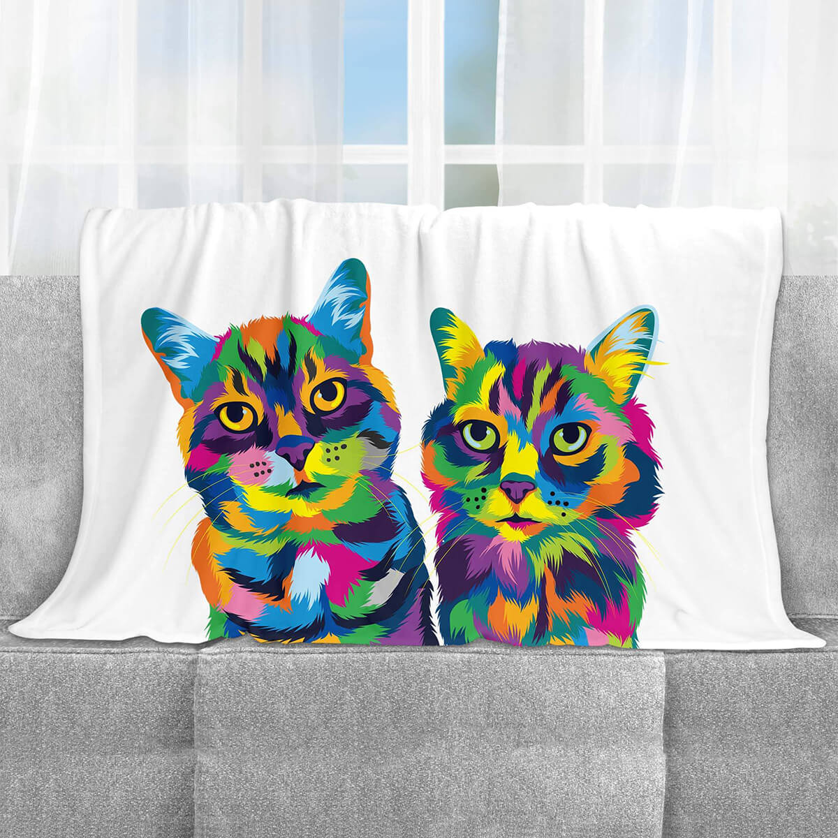 CUSTOM COLOURFUL STYLE PET FLEECE BLANKET