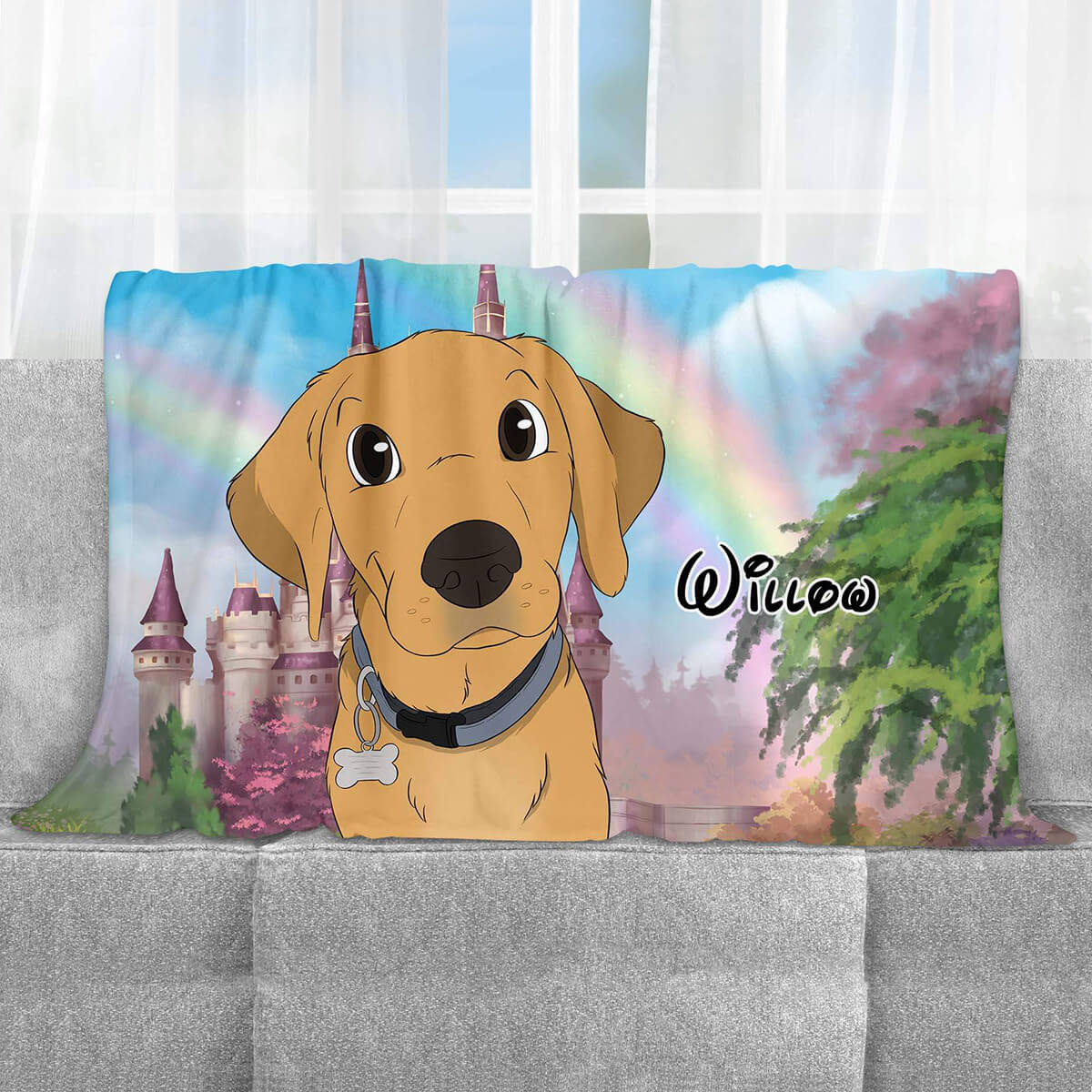 CUSTOM CARTOON STYLE PET FLEECE BLANKET