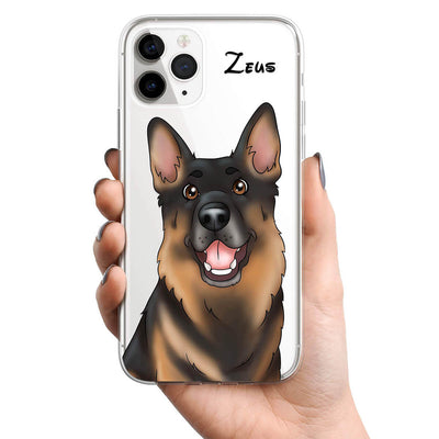 PET CREATIONS PET CARTOON STYLE CLEAR PHONE CASE