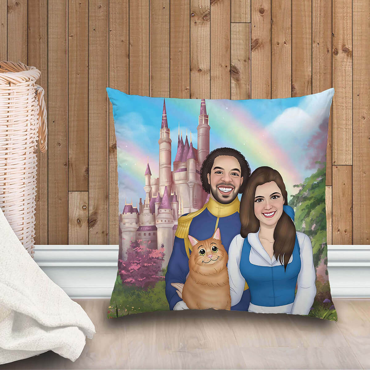 CUSTOM CARTOON STYLE FAMILY PLUSH PILLOW