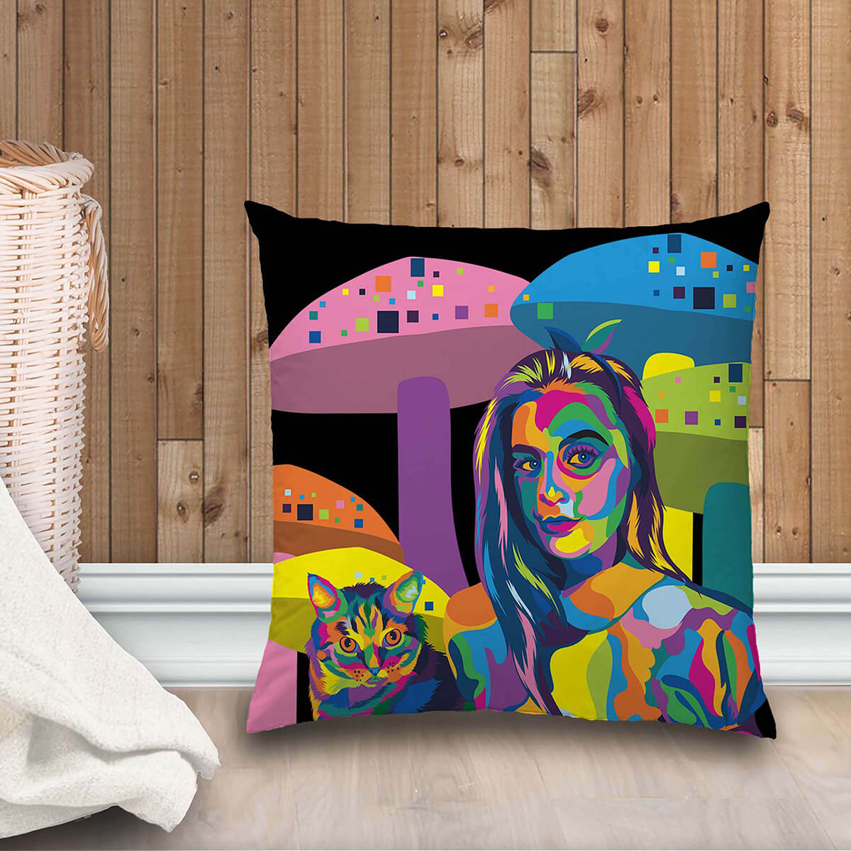 CUSTOM COLOURFUL STYLE FAMILY PLUSH PILLOW