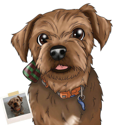 CUSTOM CARTOON STYLE PET PORTRAIT - DIGITAL DOWNLOAD