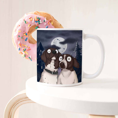 CUSTOM SPOOKY STYLE PET COFFEE MUG.