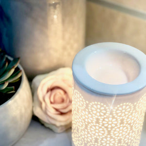Electric Wax Warmer - Circle White Cut Out Warmer