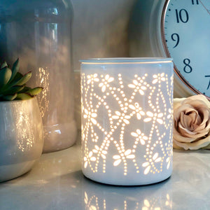Electric Wax Warmer - Dragonfly White Cut Out Warmer