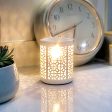 Load image into Gallery viewer, Electric Wax Warmer - Trellis Style White Cut Out Warmer