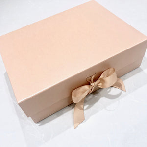 Pink Gift Box with Rose Gold Vinyl Lettering