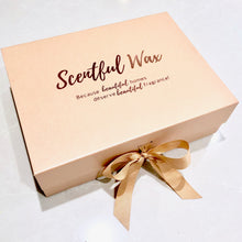 Load image into Gallery viewer, Pink Gift Box with Rose Gold Vinyl Lettering