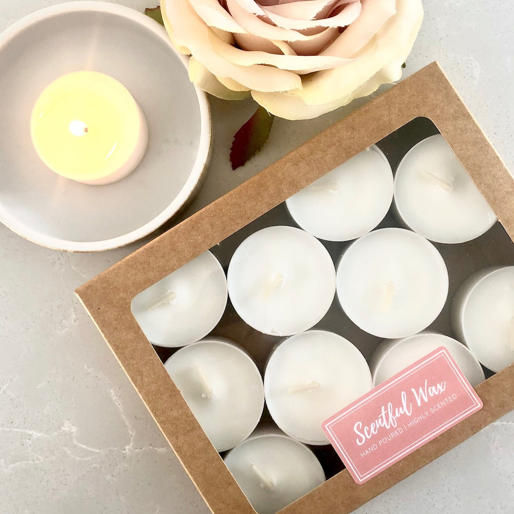 100% Soy Wax Tealights (Recycled Aluminium Cups)