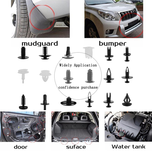SITAILE 415 pcs Car Bumper Hood Fender Splash Guard Retainer Clips for Toyota Honda for Ford BMW Auto Accessories