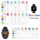 Smart Watch V8 Men Bluetooth Sport Watches Women Ladies Rel gio Smartwatch with Camera Sim Card Slot Android Phone PK DZ09 Y1 A1