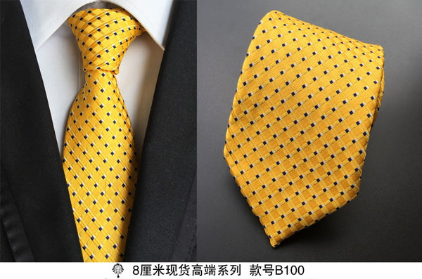hot 100% silk plaid ties gifts for men shirt wedding cravate pour homme jacquard woven necktie Party gravata Business Formal tie