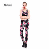 Qickitout New Hot Vest Tank Top Leggings Tracksuit Clothing Fitness Printed Women 2 Pieces Fashion Pant Casual Set Popular