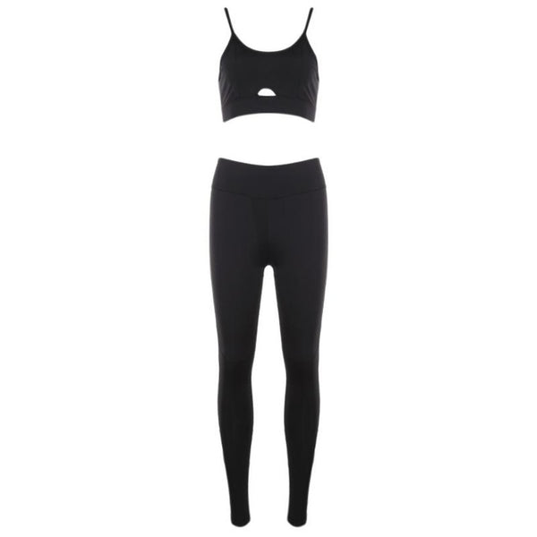 Sports Wear Yoga Set Women Workout Clothes Exercise Clothing Dance Fitness Set Jogging Femme Hollow Out Sport Suits Bra+Pant