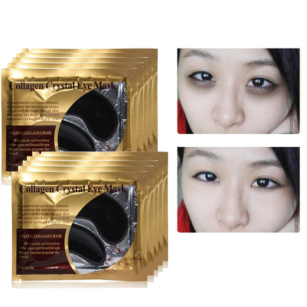 Black Collagen Crystal Eye Mask Anti-Wrinkle Eye Patches for Eyes Bags Anti-Puffiness Eyes Pads Gel Face Masks Skin Care